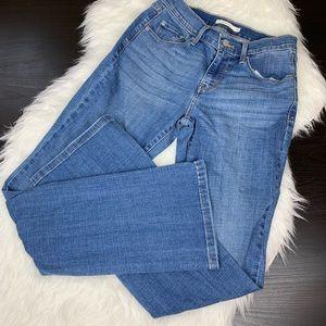 Levis 515 bootcut blue jeans 4 A6